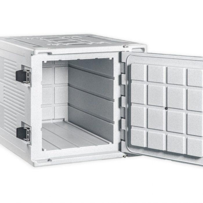 Contenitore refrigerato da 330 litri, dettaglio alimentatore